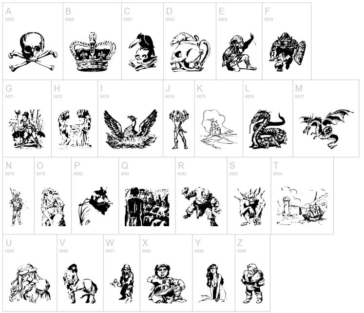 Fantasy clipart font Vector by Fantasy Fontsi Designs