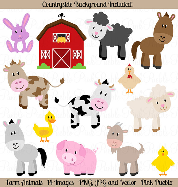 Farm Animals clipart Clipart Farm Clipart Farm Barnyard