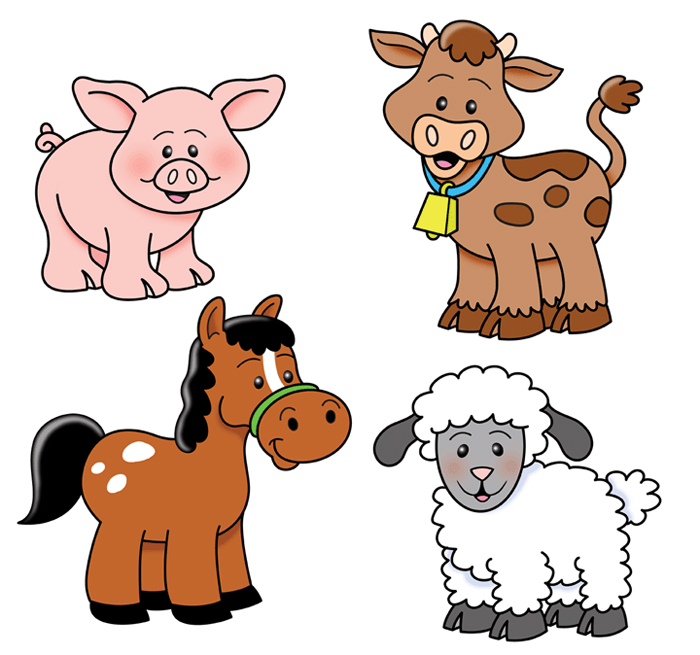 Farm Animals clipart Clip Farm  Cute The