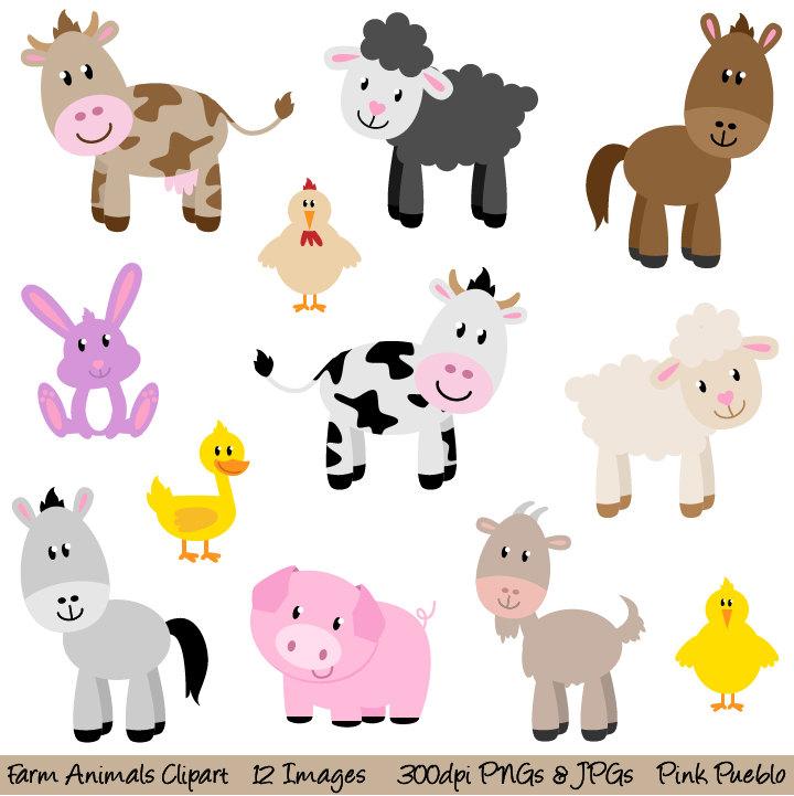 Farm Animals clipart  Animal Clipart Clipart New