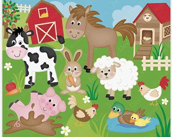 Cattle clipart barnyard animal Cute Clip Clipart animal Farm