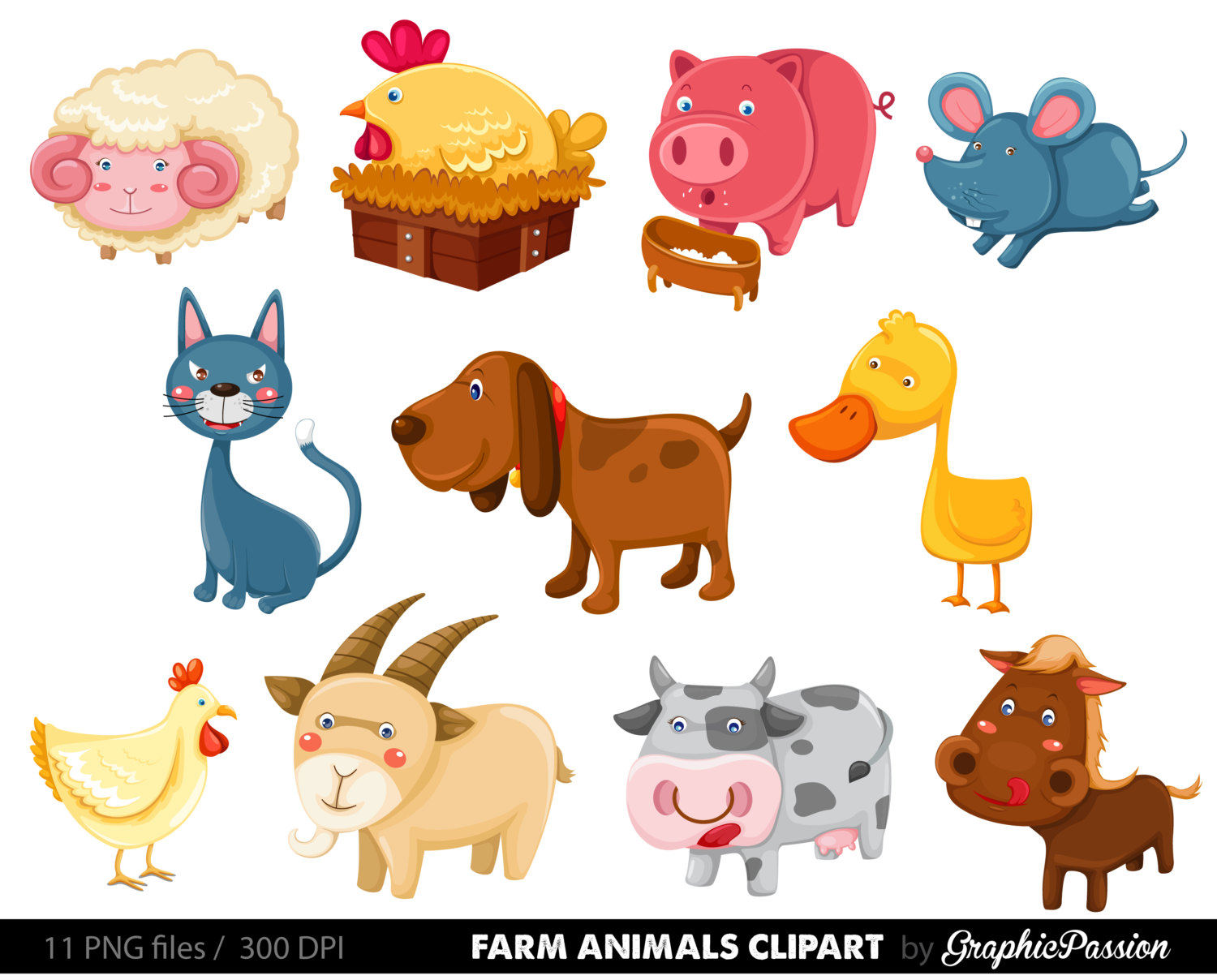 Farm Animals clipart Farm Barn 50% Horse Animals