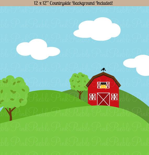 Background clipart farm Barnyard Art Art Clip Clipart