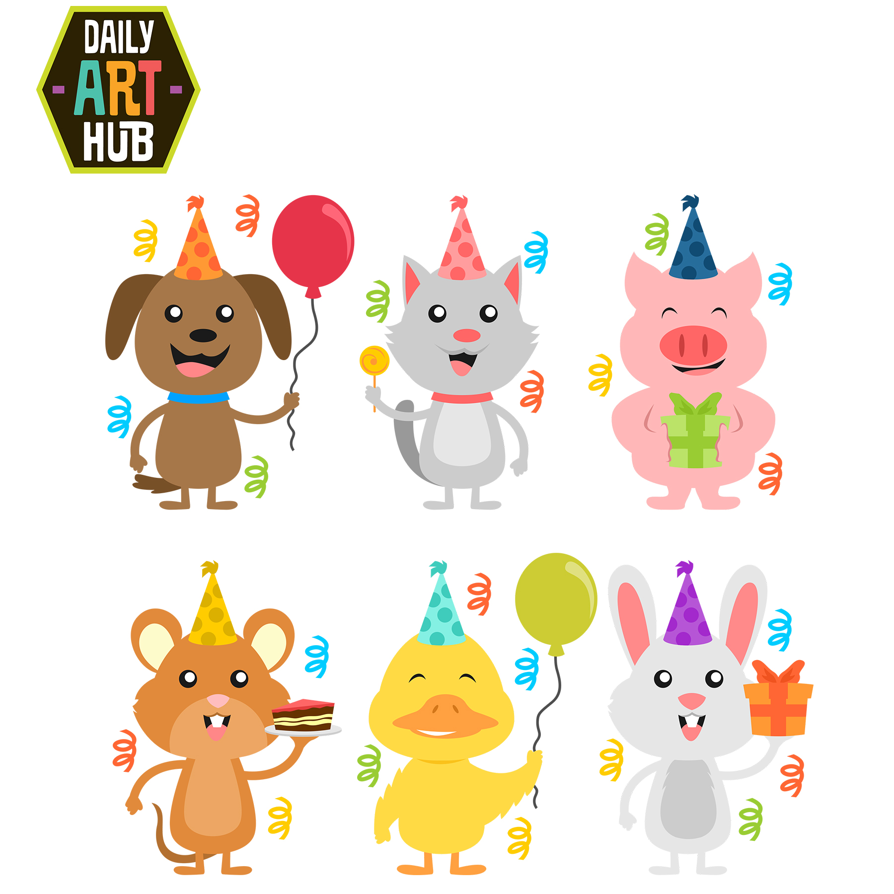 Animal clipart birthday Cliparts  Free Clip Download