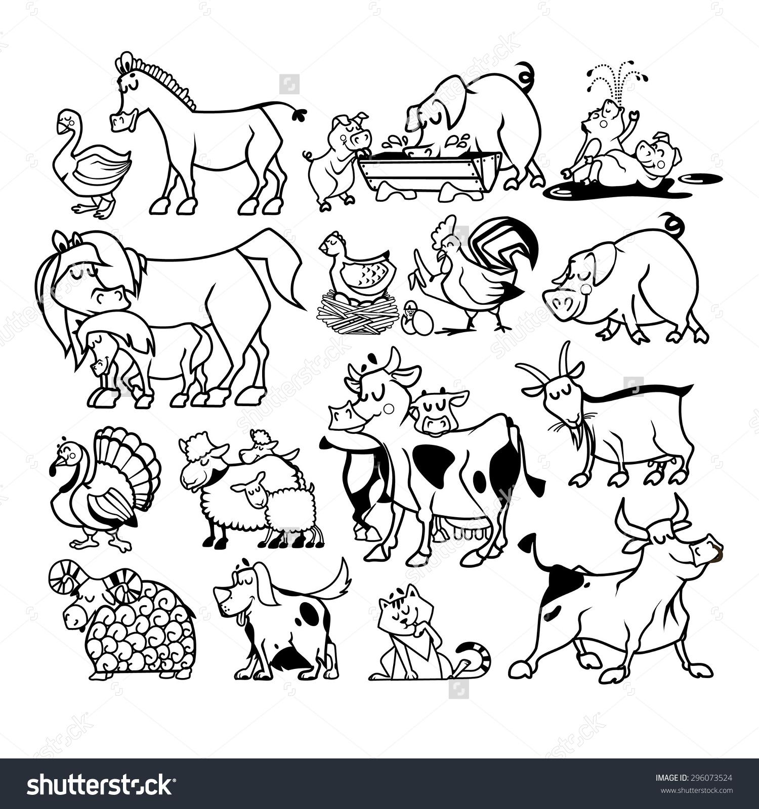 Amd clipart farm animal And Farm Animals black Set