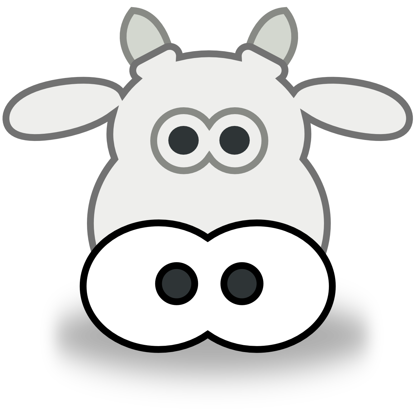 Drawn cattle printable #2
