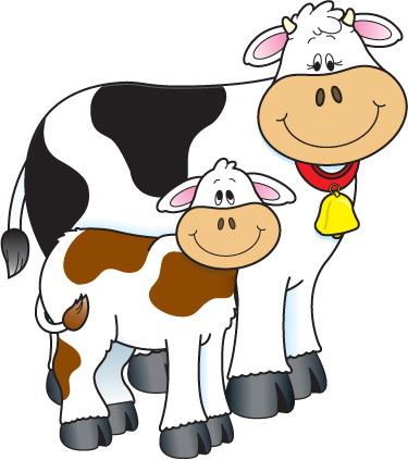 Cattle clipart cow family #1