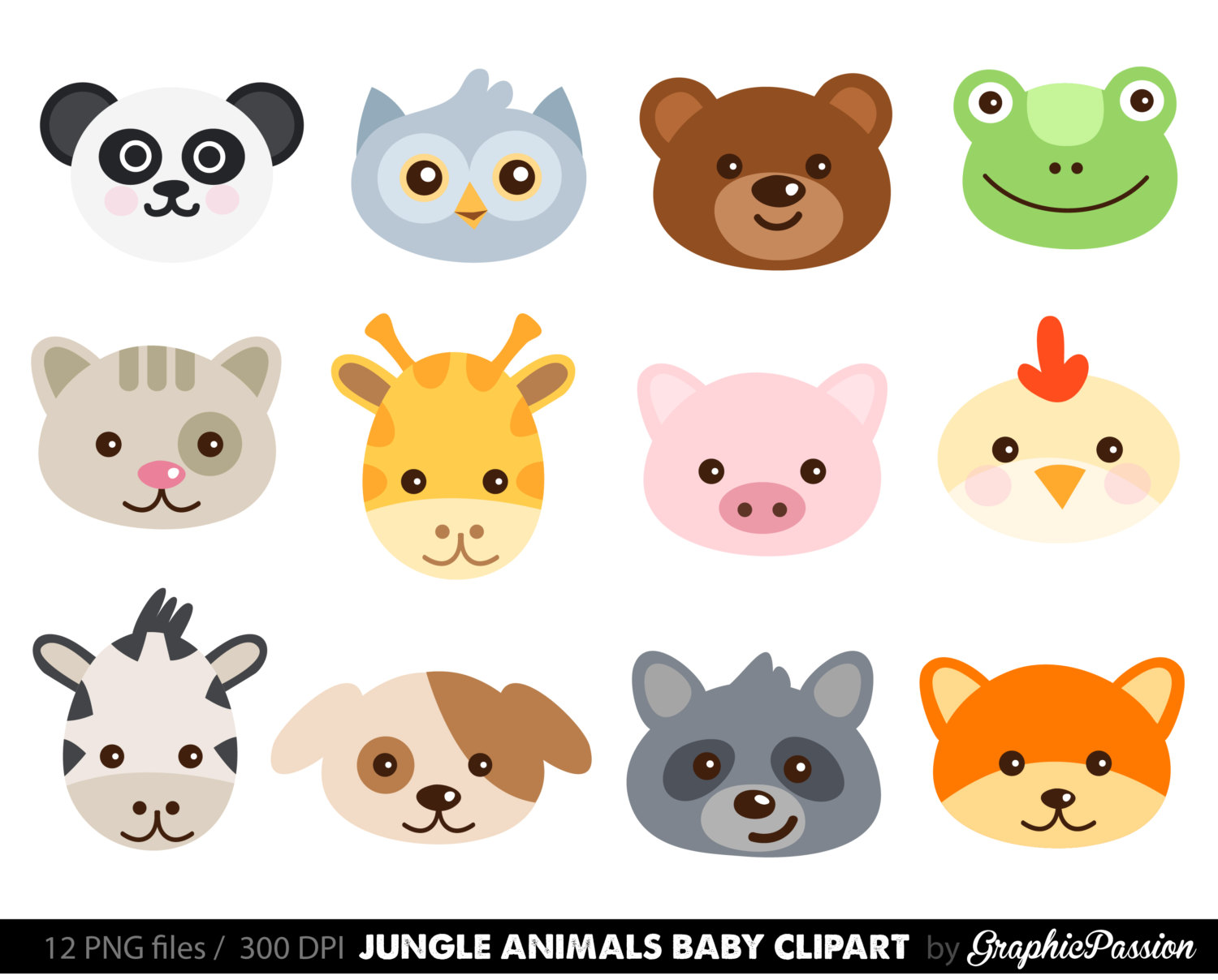 Zoo clipart cute animal Animal graphics cute Farm Collection