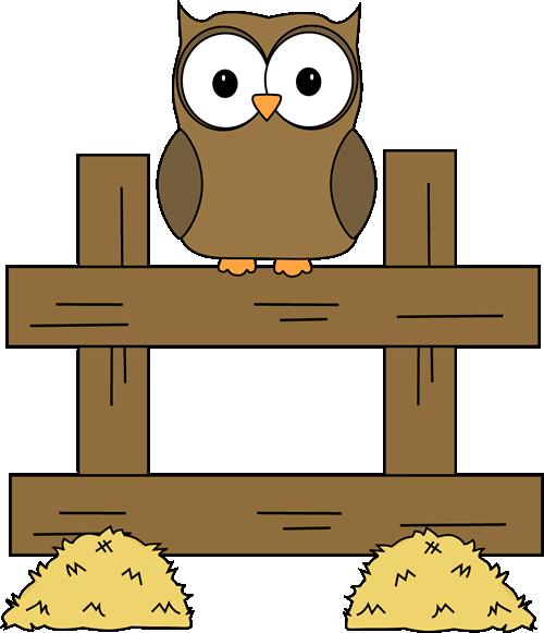 Barn clipart fence Images Art Clip Owl Farm