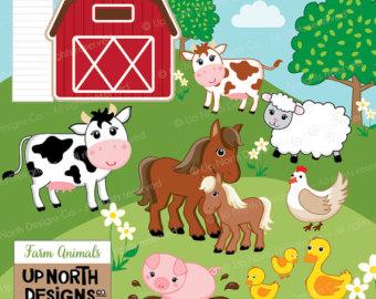 Cattle clipart barnyard animal Animal Illustrations Cow Clipart Farm