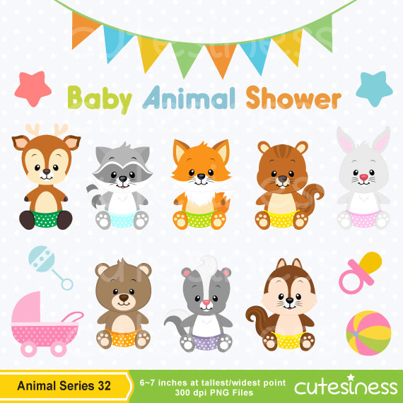 Baby Animal clipart woodland Animal shower Baby Cutesiness Baby