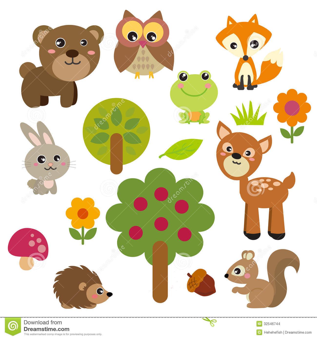 Animl clipart simple Art Clip forest Animal animal