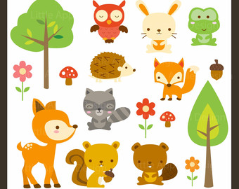 Wood clipart woodlands Animal Etsy Clip clipart Animal