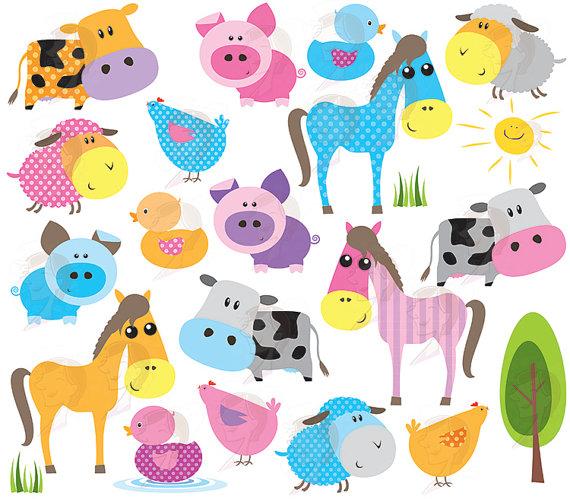 Baby Animal clipart the universe Farm Animal cute Animal Jungle
