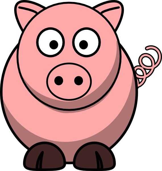 Simple clipart pig #2