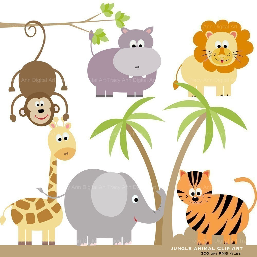 Zoo clipart cute animal Animal Art Clipart jungle Cartoon