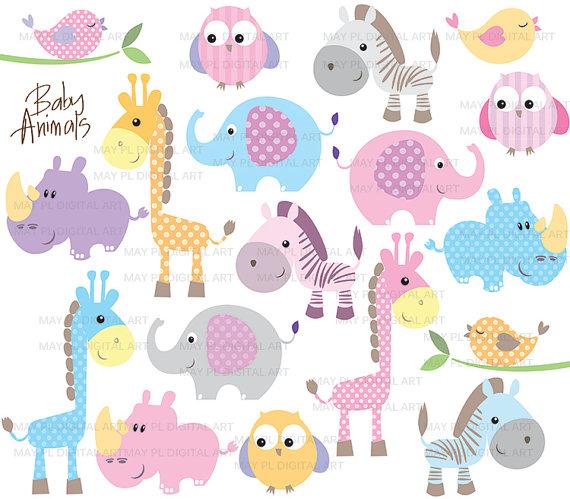 Zebra clipart baby shower Clipart Illustrations Cute Animals Art