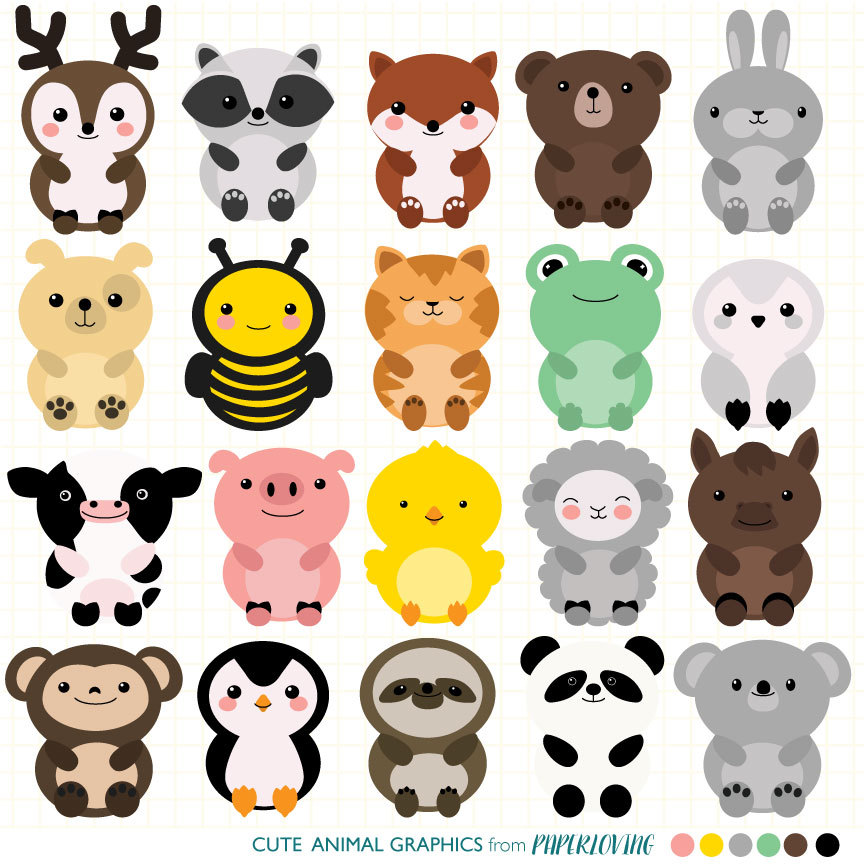 Zoo clipart cute animal File animal digital a Clipart