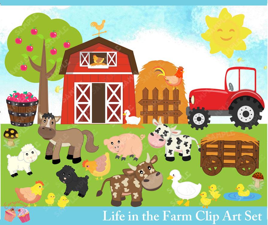 Farm clipart Life Clipart the Etsy clipart