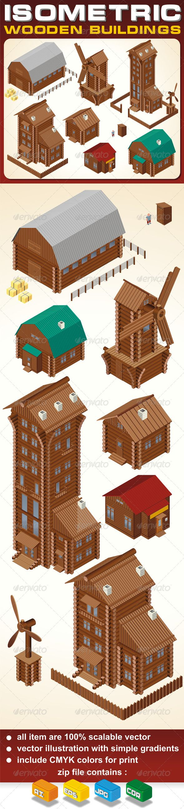 Cabin clipart farm And Isometric Pinterest House Wooden