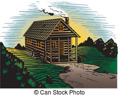 Cabin clipart mountain cabin  the and country Cabin