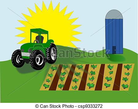 Tractor clipart little green #1