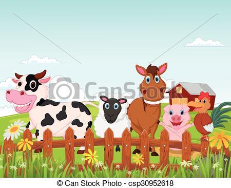 Farm clipart natural environment Cartoon cartoon collectio animal farm