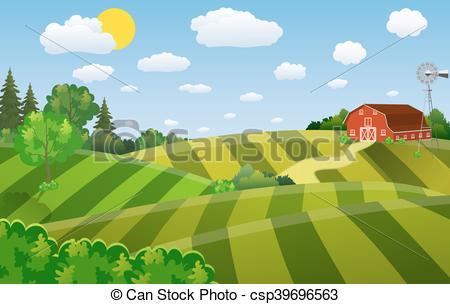 Farm clipart natural environment Seeding seeding field green farm