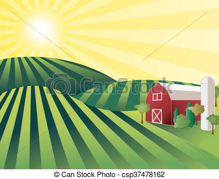Barn clipart farm land Green csp37478162 farmland Farm