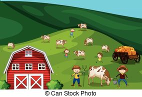 Farmland clipart Windmill Farmland Farmland barn with