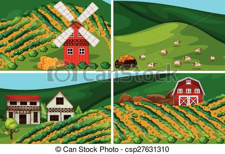 Farmland clipart Csp7157237 Farmland; of EPS Farmland