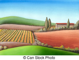 Farmland clipart Farmland  Tuscany and Hand