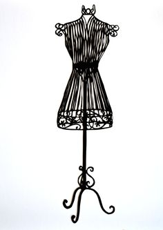 Wire clipart mannequin Wire Makers Cream vintage Shabby