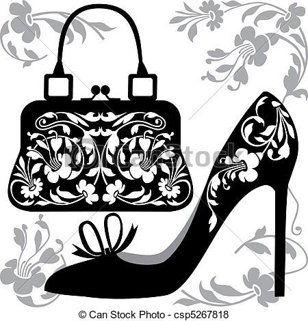 Shoe clipart handbag #4