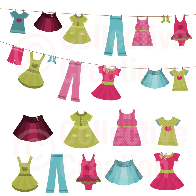 Background clipart clothes #6