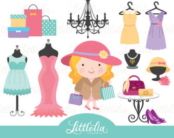 Model clipart clothing boutique Clip Retail clipart Etsy 15036