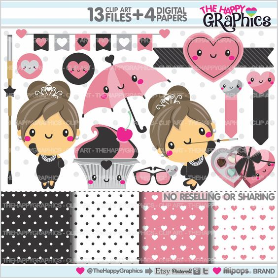 Model clipart fashion accessory Glamour Diva Clipart Clipart COMMERCIAL