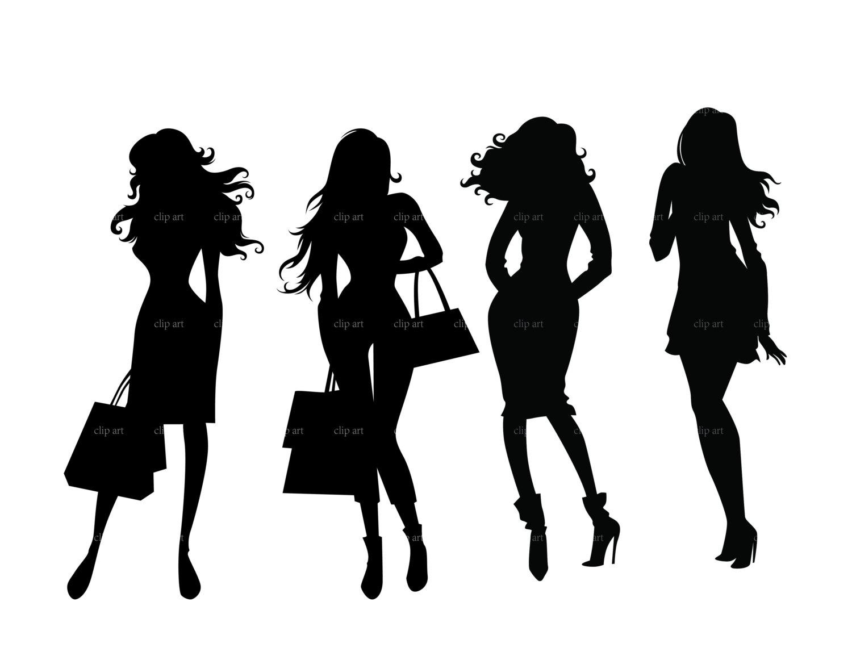 Model clipart fashion shopping Lady silhouette boss Search boss