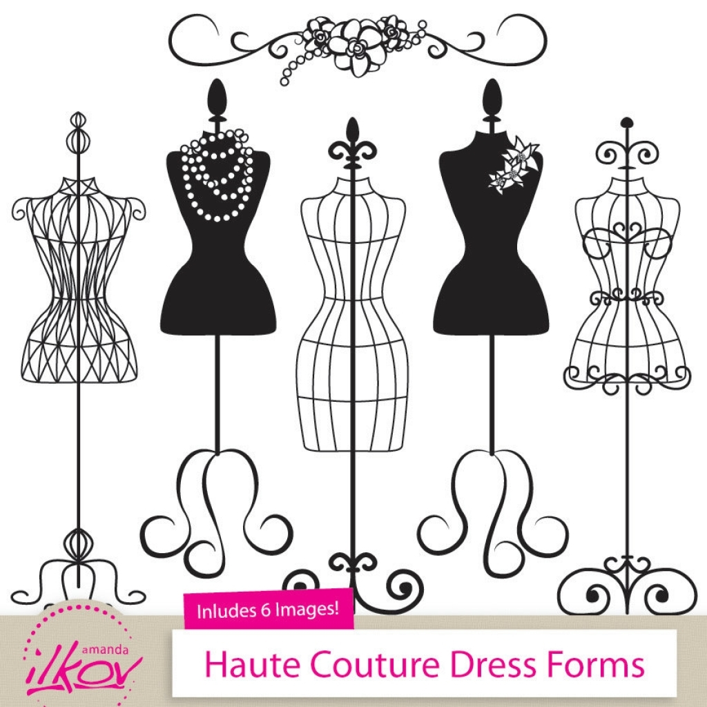 Coture clipart education Mannequin on fashion etsy