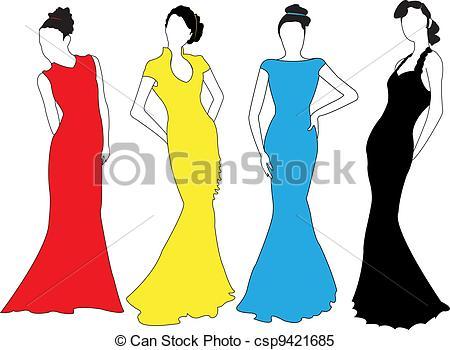 Model clipart fashion modeling #2