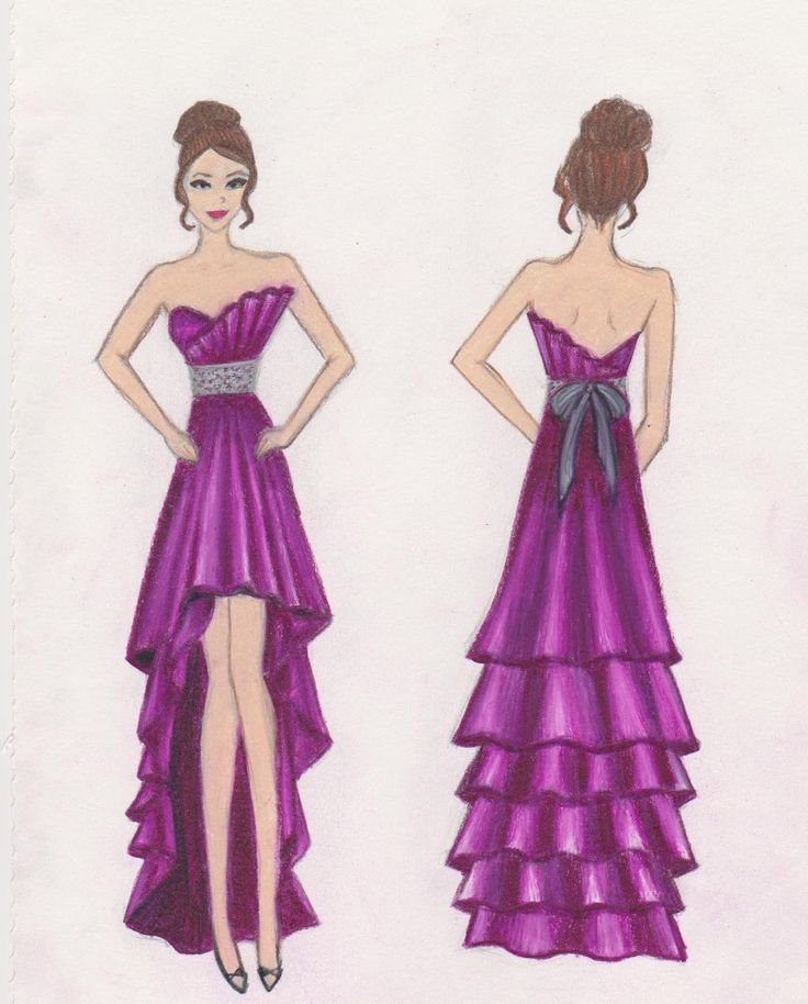 Drawn gown prom dress Dresses Finalists! 17 Design on