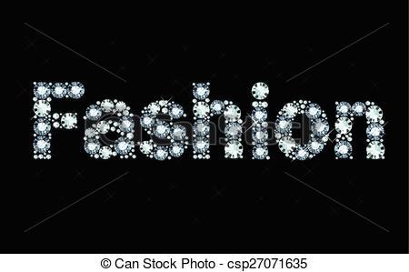 Word clipart fashion Fashion word shiny  made