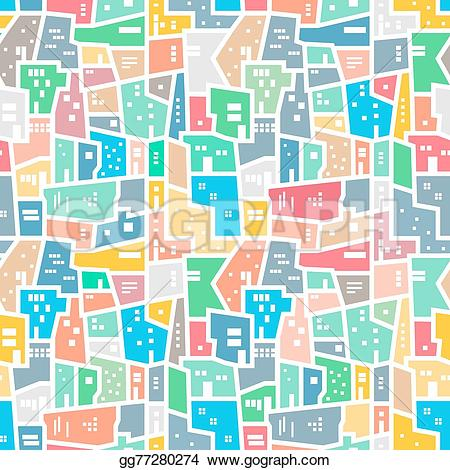 Favela clipart Vector pattern colored Vector Vector