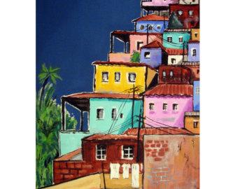 Favela clipart big city Favela illustration Colors Original America