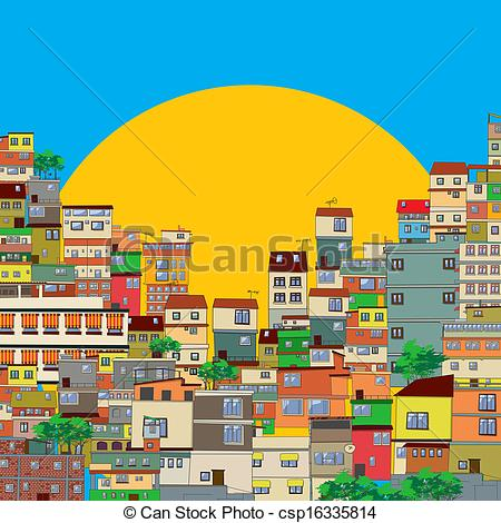 Favela clipart Illustration  csp16335814 Vector Favela