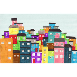 Favela clipart Poster Houses Favela Brazil Illustration