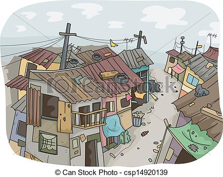Favela clipart Available 292 Slum illustrations and