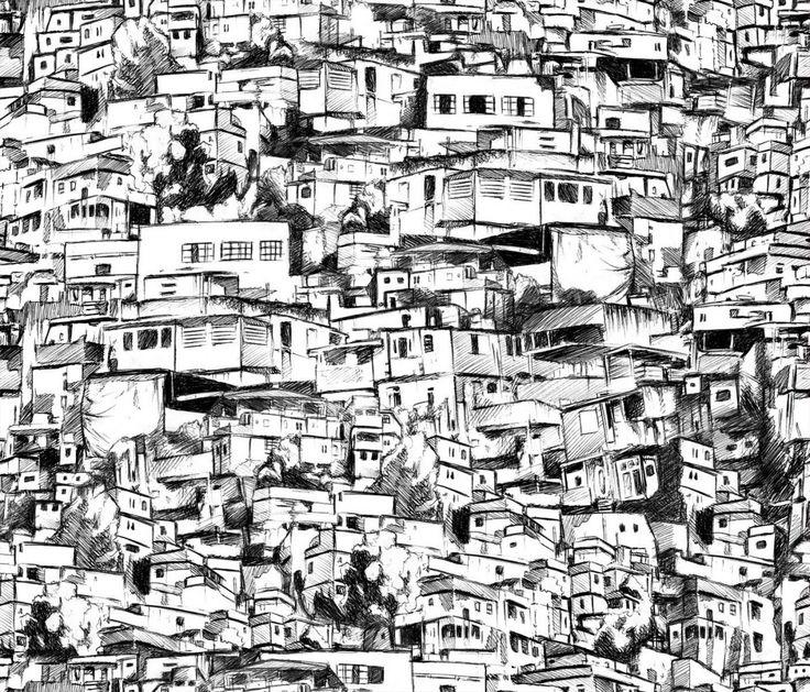 Favela clipart downtown Desenhos Censo  Apenas ideas