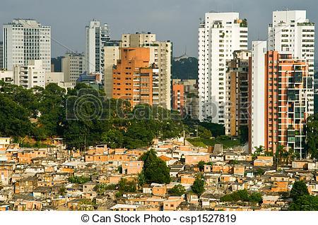 Favela clipart skyline Social favela Stock Contrast csp1527819