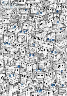 Favela clipart suburban community #5